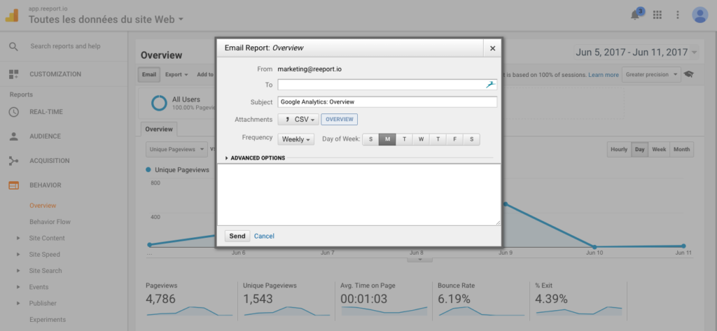 automatiser rapports Google Analytics -2