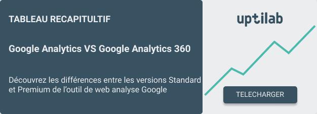 Téléchargement tableau comparatif Google Analytics vs Google Analytics 360